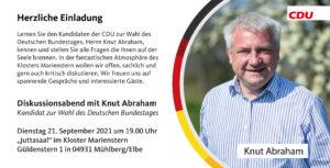 Diskussionsabend mit Knut Abraham